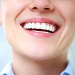 Closeup of beautiful healthy smile